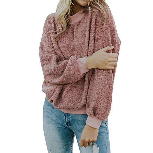 Berimaterry Damen Sweatshirt Pullover Bluse T-Shirt Tops Mode Weihnachten Bekleidung Casual Warm Langarm Solide Strick Bluse