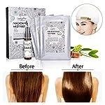 Einmalige Haarmaske,Luckyfine Nature Haarpflege set eschädigt & Trocknen Haare Reparatur & Wachstum 3 Stück Haarmaske mit 1 Flasche Ätherisches Öl