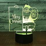 CFLEGEND3D nachtlicht Santa (touch + fernbedienung) LED tischlampe flutlicht weiches licht statue kinderzimmer schlaf licht dekorative lichter party lichter 7 farbe USB