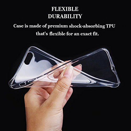 Vandot iPhone 7 Plus TPU Silicone Case Coque Swag Souple incassable Gel TPU Transparente Silicone Housse Cristal Ultra Slim Fit Bumper Motif Protective Housse anti-rayures Etui de protection para iPho ABC-25