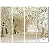 Nature 4 Panel Wall Art Painting With Matte Coating 24x18 Inches On 4mm Sunboard