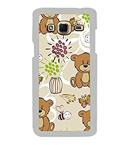 Cute Bear Wallpaper 2D Hard Polycarbonate Designer Back Case Cover for Samsung Galaxy J3 2016 :: Samsung Galaxy J3 2016 Duos :: Samsung Galaxy J3 2016 J320F J320A J320P J3109 J320M J320Y