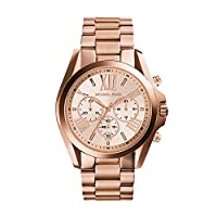 Michael Kors Oversized Bradshaw Women's Rose Gold Dial Stainless Steel Band Watch - MK5503