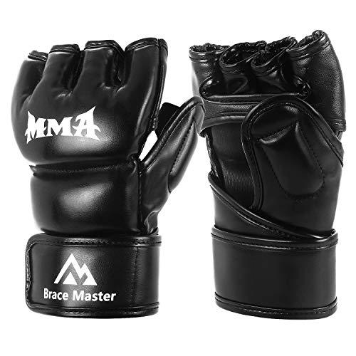 guanti combattimento Brace Master DG Serie MMA Bag Guanti UFC Guanti per addestramento al Combattimento Grappling Arti Marziali Lotta Boxe Sparring Punch Muay Thai