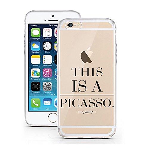 iPhone 6S Hülle von licaso® für das Apple iPhone 6 & 6S aus TPU Silikon Schwarze Punkte Black Dots Fashion Style Muster ultra-dünn schützt Dein iPhone & ist stylisch Schutzhülle Bumper Geschenk (iPhon This a Picasso.