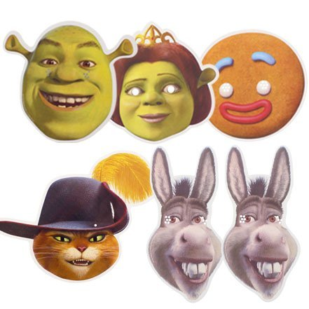 Partyrama Shrek The Movie - Máscaras de Cara, 6 Unidades