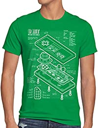 style3 NES Contrôleur de jeu bleu T-Shirt Homme 8-Bit mario donkey bros kong