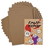 50 Kraftpapier-Karten DIN A4 Natur-Braun Umweltpapier 21,0 x 29,7 cm - 280 g/m² Recycling-Papier 100% ökologische Brief-Bogen von Ihrem Glüxx-Agent