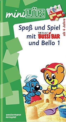 miniLÜK / Kindergarten / Vorschule: miniLÜK: Spaß und Spiel mit Bussi Bär und Bello 1: Fröhliche Aufgaben für Kinder ab 4 Jahren