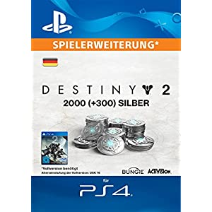2000 (+300 Bonus) Destiny 2 Silber [PS4 Download Code – deutsches Konto]