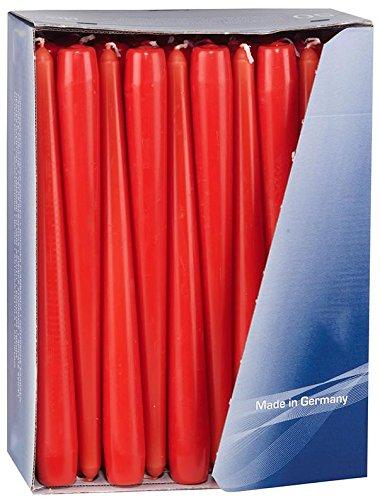 Gies Rouge conique Bougies Bougies 24.5 cm (100)