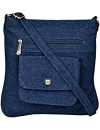 Exotique Women's Sling Bag (Blue, CW00022BL)