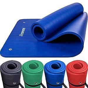 ScSPORTS Gymnastik-/Yoga-Matte, mit Schultergurt, extra groß und dick, 185 cm x 80 cm x 1,5 cm