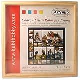 Artemio VICAPP3131P Cadre Photo Vitrine en Bois - Format Scrap, 31cm, Beige, 32 x 3 x 32 cm