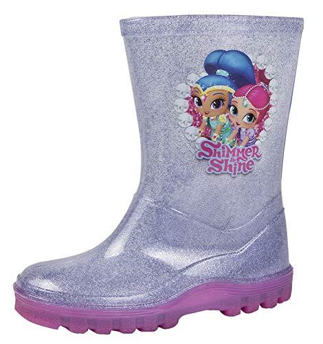 Lora Dora Nickelodeon Shimmer and Shine Girls Wellington Boots Glitter