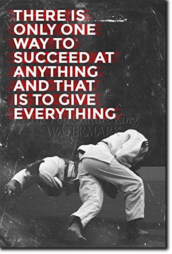 Judo motivacional, póster o afiche. 10 'There is only one way to succeed' Lámina original para regalo con cita de motivación impresa en papel de fotografía 30x20 cm Judoka Japan Japanese Kata