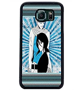 PrintDhaba Girls D-4069 Back Case Cover for SAMSUNG GALAXY S6 (Multi-Coloured)