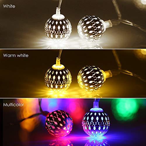 8-string-licht-lampe (Usb String Licht Hochzeit/Party Dekoration Im Freien Wasserdichte Led Lampe Licht Weiß 20Led 8 Modus)