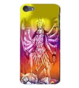 Fuson 3D Printed Lord Maa Kali Designer Back Case Cover for Apple iPod Touch 5 - D502