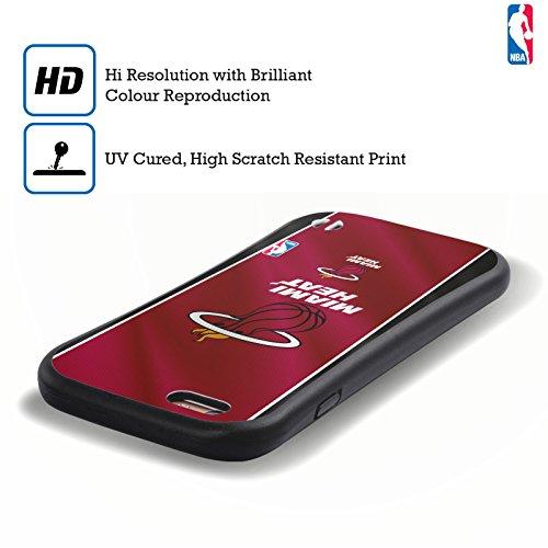 Officiel NBA Camouflage Numérique Miami Heat Étui Coque Hybride pour Apple iPhone 6 Plus / 6s Plus Bannière