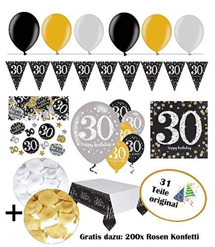 2727f90920cf Lave-vaisselle Fête Décoration Anniversaire 30 Ans – 31 pièces ...