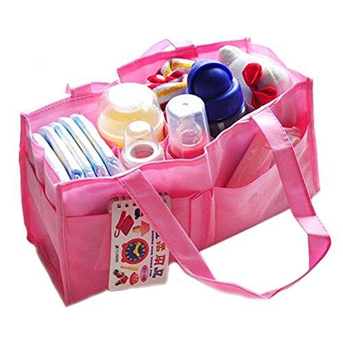 zhouba New Mädchen Jungen Baby Windel Windel Mutter Tasche tragbar Handtasche (Baby-mädchen-rosa-windel-taschen)