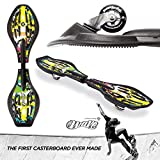 Streetsurfing Street Surfing The Wave G1 Ibiza Waveboard, Yellow/Green, M