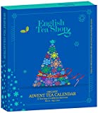 English Tea Shop - Tee Adventskalender Teebuch Blau, 25 einzelne Boxen mit BIO-Tees in hochwertigen Pyramiden-Teebeutel