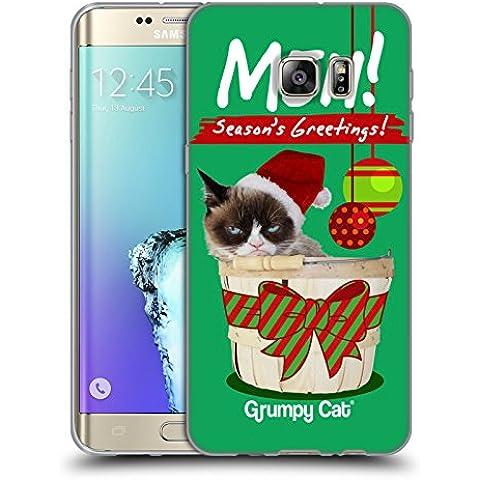 Ufficiale Grumpy Cat Saluti Natalizi Natale Cover Morbida In Gel Per Samsung Galaxy S6 edge+ / Plus - Saluto Edge Design