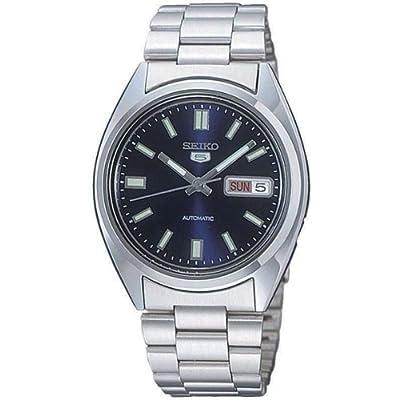 Seiko SNXS77 - Reloj analógico de caballero automático con correa de acero inoxidable plateada - sumergible a 30 metros