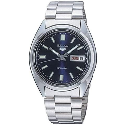 Seiko 5 Men's Automatic Watch with Blue Dial Analogue Display