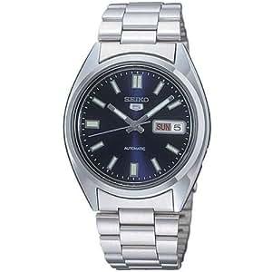 Seiko - SNXS77K - 5 Gent - Montre Homme - Automatique Analogique - Cadran Bleu - Bracelet Acier Gris