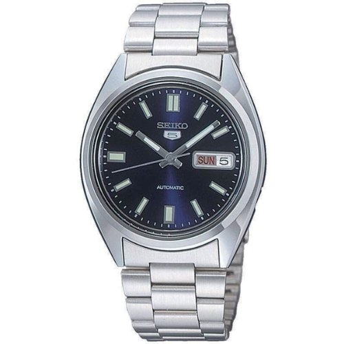 Seiko-5-Mens-Automatic-Watch-with-Blue-Dial-Analogue-Display-and-Silver-Stainless-Steel-Bracelet-SNXS77