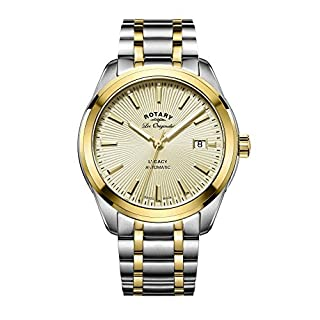 Rotary Men's Automatic Watch with Yellow Dial Analogue Display and Two Tone Stainless Steel Bracelet GB90166/03 (B01E3ROF74) | Amazon price tracker / tracking, Amazon price history charts, Amazon price watches, Amazon price drop alerts