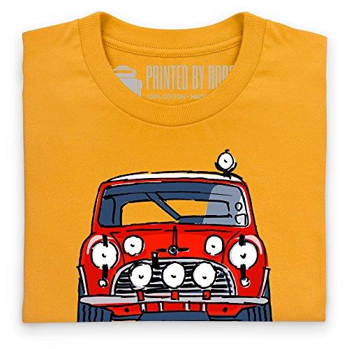 Classic British Red Rally Car S Model T-Shirt, Herren Gelb
