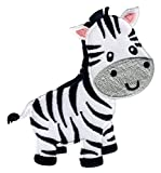 PatchMommy Zebra Patch Aufnäher Applikation Bügelbild - zum Aufbügeln oder Aufnähen - für Kinder/Baby