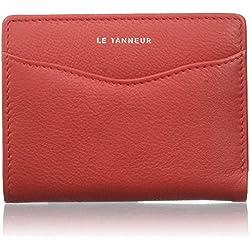 Le Tanneur - RFID TTZ3505 - Valentine Anti - Porte-monnaie - Femme - 2x10x7,5 cm (W x H x L) - Rouge (Rouge)