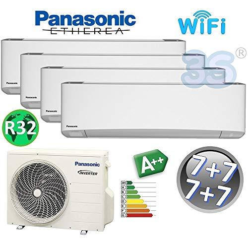 MULTI Split gerät ETHEREA R32 PANASONIC Klimaanlage 4x 2.0 KW A++ mit WI-FI