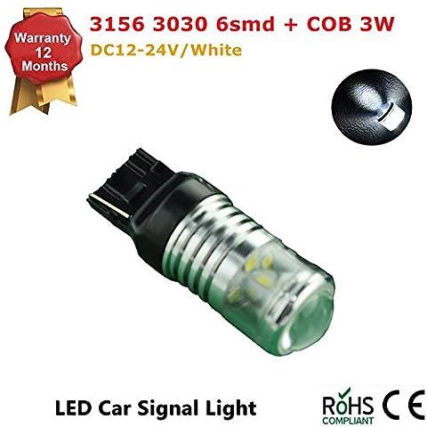1Pcs LED Car Lights Bulb 1156 7440 7443 1157 3156 3157 S25 6 SMD 3030/2323 COB LED Backup Signal Blinker Tail Light BULBS 12V-24V Replacement for Cars -Yellow Amber/White