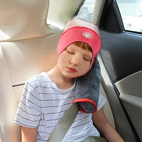 seasaleshop Gurtpolster für Kinder Schlafkissen Nackenstütze für Kinder Auto Baby Kind Sicherheitsgurt Autositz Kopfkissen Gürtel Pillow Schulterschutz (Grau)