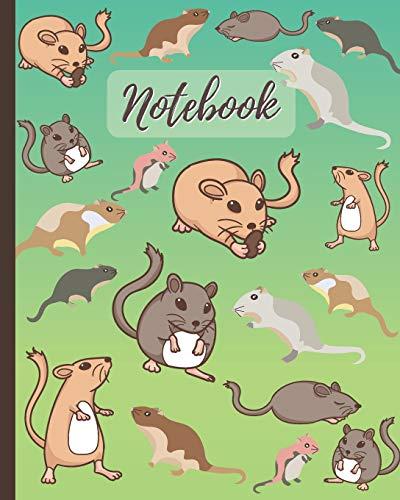 Notebook: Cute Gerbils Cartoon Cover - Lined Notebook, Diary, Track, Log & Journal - Cute Gift for Boys Girls Teens Men Women Who Love Gerbils (8