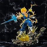 Dragon Ball Z Gogeta Super Saiyan Láser Vegeta Son Goku Fusion Battle Ver.Figura de acción PVC DBZ Modelo 20cm.
