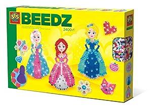 SES Creative Beedz - Cuentas para Planchar Princesas con Diamantes - Kits de Mosaico (5 año(s), Chica, Preescolar, Multicolor, 2400 Pieza(s), Países Bajos)