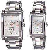 Titan Analog Silver Dial Unisex Watch-93272563SM01