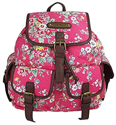 UKFS Fleurs Imprimer Florence Sac à dos / Twin Pocket Sac à dos