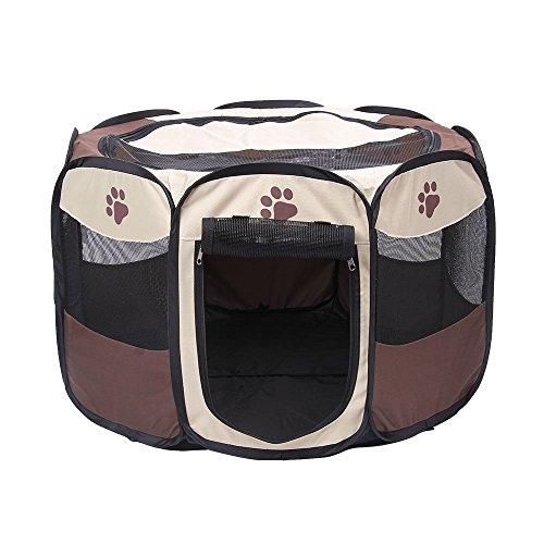 gzq Laufstall Übung 8Panel Tragbar Faltbare Zelt Zaun für Hunde/Katzen Kaninchen Meerschweinchen -