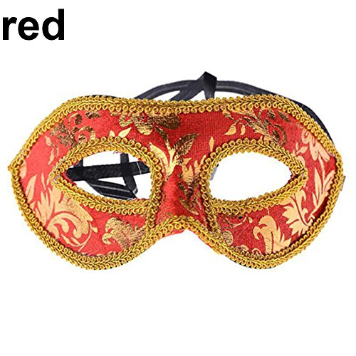 beiguoxia Let 's Party Herren 's Classic Vereitelt Kostüm Augenmaske Masquerade Party Cosplay Fancy Ball Maske-Blau, Rot, Einheitsgröße
