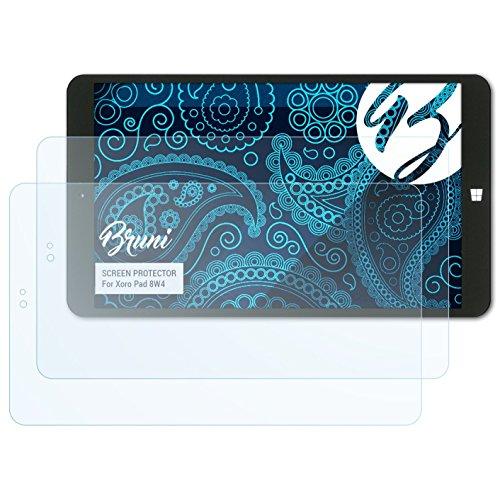 Bruni Schutzfolie kompatibel mit Xoro Pad 8W4 Folie, glasklare Bildschirmschutzfolie (2X)
