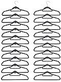 Eyepower 20 SAMT Kleiderbügel 10 Haken-Organizer Antirutsch Hemden-Bügel Anzugbügel Platzsparend Rutschfest Dunkelgrau