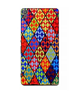Snazzy Printed Multicolor Hard Back Cover For Sony Xperia XA Dual